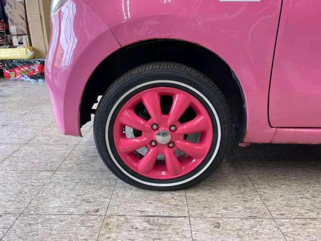 F・新品ララパーム14インチAW+ナンカン・リミックス・ホワイトリボン夏タイヤ!(このセットはOP設定になります)
