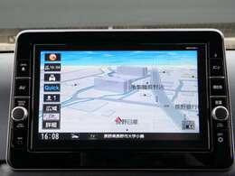 純正9インチメモリーナビゲーション、フルセグTV!画面も大きく見やすく、視線の移動で確認できます。