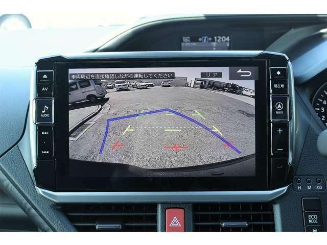 ガイド付のバックモニターは標準装備です。コーナーセンサーも装備していますので駐車も安心です♪