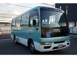 平成12年式シビリアンバス入庫しました。身体障害者輸送車(16人補助席含む+車椅子2台) 電動昇降リフト付き ぜひご検討下さい。