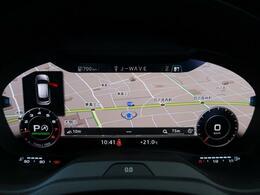 液晶フルデジタルディスプレイにスピードメーター、タコメーター、マップ表示、メディア情報などフレキシブルに表示させるバーチャルコックピットを装備。ステアリングホイールから手を離す必要はありません。