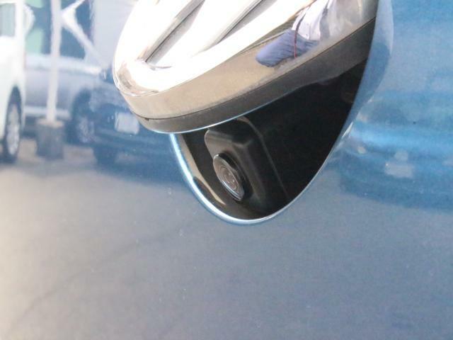 スッキリした印象のバックドアノブ一体型リアビューカメラ。