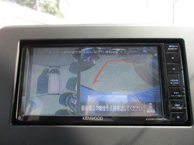 全方位カメラで見通しの悪い場所や駐車時なども安心です