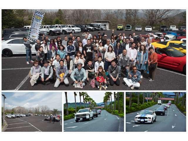 年に2回、春と秋にアメリカンツーリングを開催しています!アメ車好きという共通の趣味を持った仲間と楽しい時間をお過ごし頂きます!