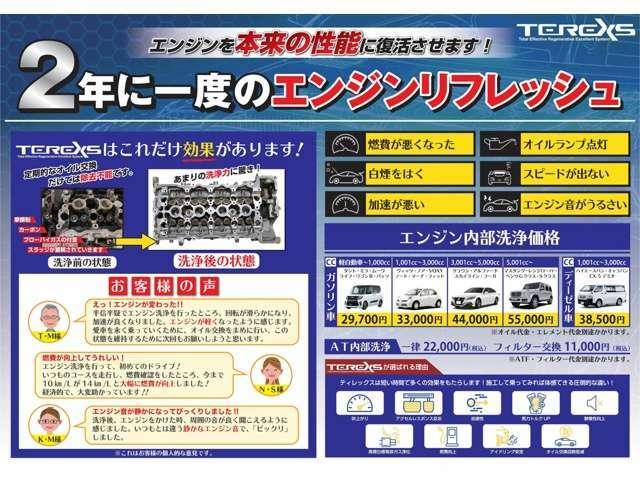 TEREXSは今後のエンジントラブル予防のためには非常に効果が高いです。