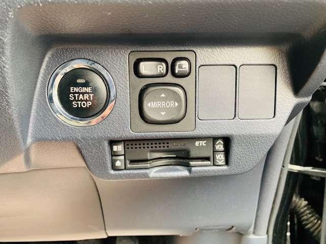 Aプラン画像:プッシュスタート♪鍵を持っているだけでエンジン始動&鍵の開閉ができます♪そして現代では必須な純正ETC装備♪