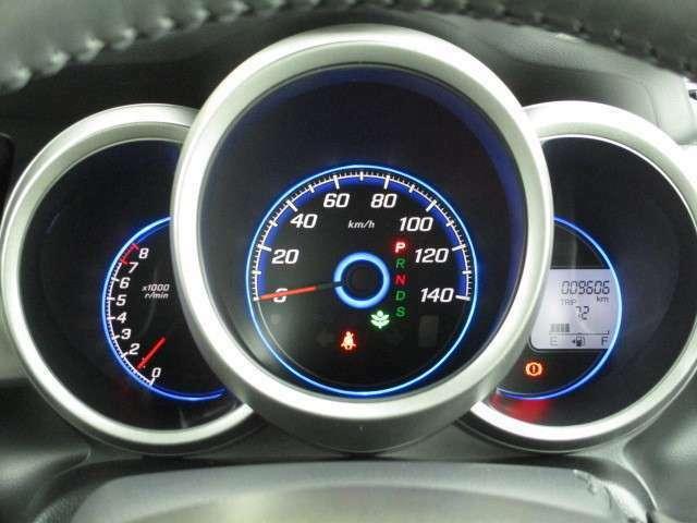 常時点灯3眼メーター☆外気温や平均燃費、推定航続可能距離などを表示します。