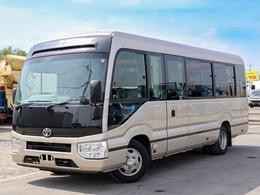 トヨタ コースター EX マイクロバス 28人乗り ロング ターボ グライド式自動扉 冷蔵庫付き