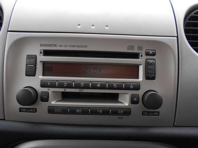 CDチューナーがインパネにすっきり装備されています。