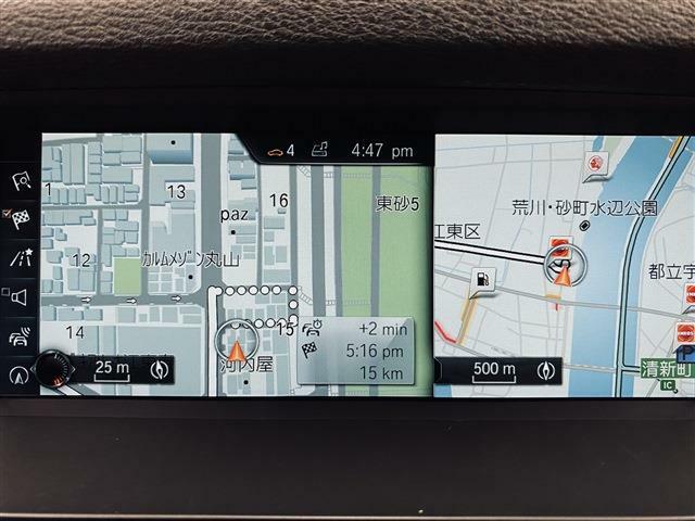 純正HDDナビを装備。フルセグTV・ミュージックサーバー・AUXをはじめ、BluetoothやDVD・CDなど様々なメディアに対応しています。ETC2.0や360度カメラ・左右独立エアコンも備えます。