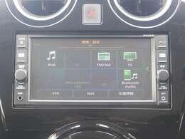 オーディオ一体型純正ナビです。 ラジオ、CD・フルセグTV、Bluetoothオーディオ接続が利用可能です。