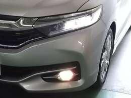 LEDヘッドライトとフォグライトが暗い夜道を明るくサポートします。