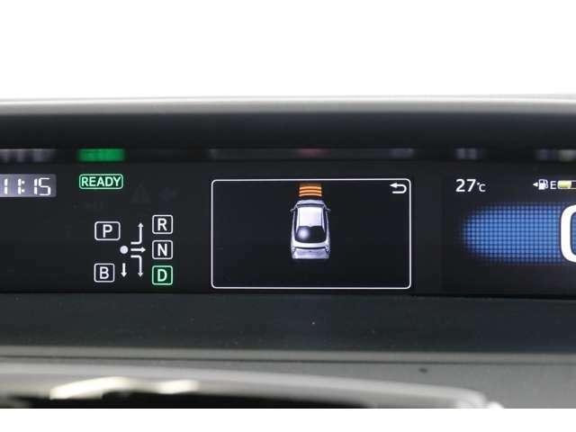 前後左右計12個のセンサーで障害物を感知し、衝突の危険があると警告とブレーキアシストまでかけてくれるインテリジェントクリアランスソナー。踏み間違え時の誤発進抑制機能もあり安全性が高いです。