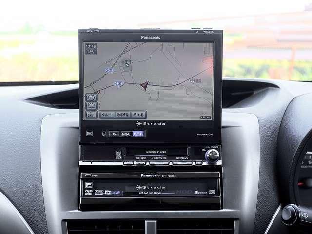 【HDDナビ】こちらのお車はHDDナビを装備しております。高性能なナビ機能の他、フルセグTV、CD音楽の再生や自動録音、DVDビデオも可能にできます。
