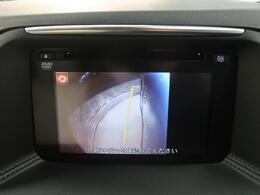 【サイドカメラ】SUV特有の助手席下の死角もこれで安心。幅寄せも難なくできますよ。