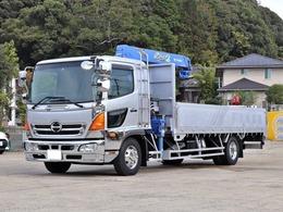 日野自動車 レンジャープロ 4t 3段クレーン付 ラジコン 後輪エアサス TKG-FD7JLAG