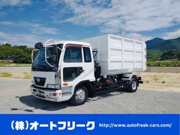 UDトラックス コンドル 6トンアームロール 増トン車 新明和 12立米新品箱付 ベッド付 脱着コンテナ