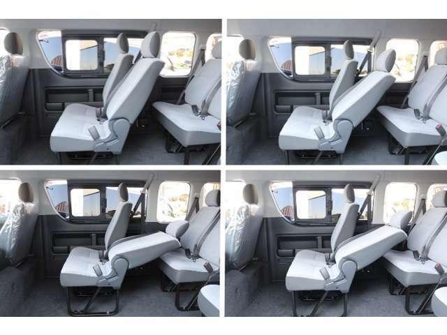 Bプラン画像:後席の使い勝手を改善!ゆったりリクライニング・前倒しで大きな荷物の積載も可能に!