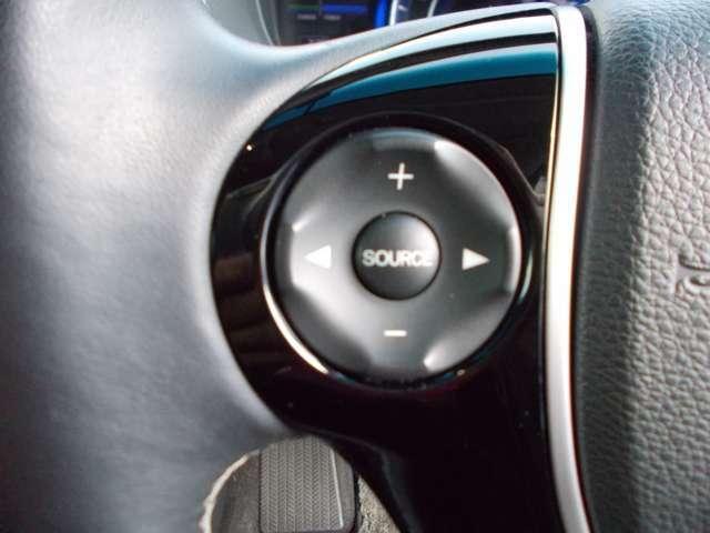 ハンドルにオーディオコントローラーがついておりますので、ボリューム調整、ソース切替、チャンネル切替、曲飛ばし等がハンドルから手を離さなくてもお手元で操作出来ます♪♪