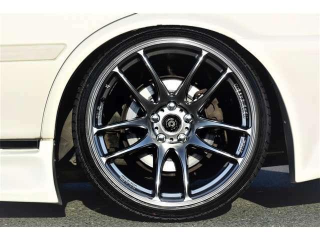 新品ワークエモーションKIWAMI19インチアルミ 新品タイヤ アペックスフルタップ車高調 クスコスタビライザー