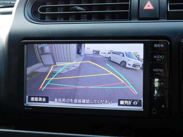 バックモニター搭載、リヤがモニターに映し出されるので安全性アップ!車庫入れが簡単です。