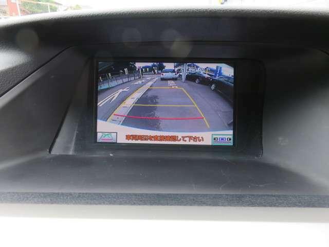 バックガイドモニター付き!ステアリングと連動してガイドラインも動くので駐車が苦手な方でも安心!