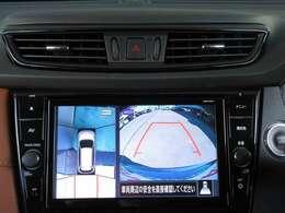 上から丸見えのアラウンドビューモニターがついているので、車庫入れも安心ですね!