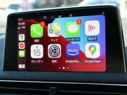 便利でスタイリッシュなApple Car Play グーグルマップ、Yahooカーナビやアップルミュージック等の音楽アプリも使用可能です。