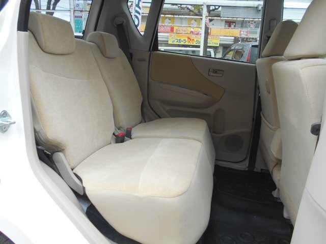 後部座席もスペースがあり、ゆったり乗車できます。