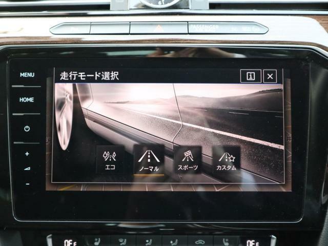 ドライビングプロファイル機能はMODE切り替えでソフトな乗り味やダイナミックな走行へと切り替えが可能です。