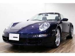 正規ディーラー 2005年モデル PORSCHE 911(997)カレラSカブリオレ 右ハンドル ミッドナイトブルーメタリック/ネイビー×ベージュオールレザーインテリア/ネイビーソフトトップ