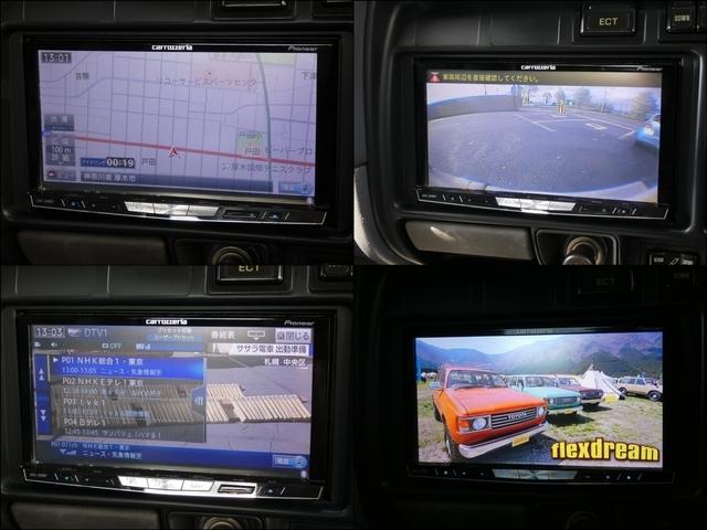 カロッツエリアHDDナビ付。バックカメラも装備。DVD、地デジ視聴、Bluetooth