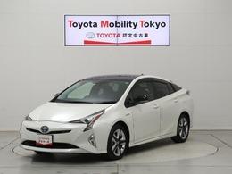 トヨタ プリウス 1.8 S セーフティ プラス ツートーン TSS 純正SDナビ 車検整備付 新車保証継承