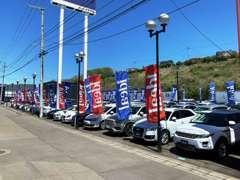 常時160台展示の輸入車専門展示場。ディーラーの確かな目で選び抜かれた高品質車ばかりです。