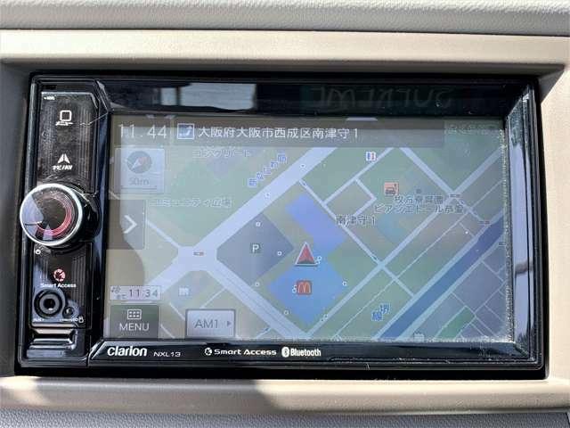 クラリオンナビシステム。AUX入力・SDスロット付き。スマートアクセス機能で携帯へリンク♪