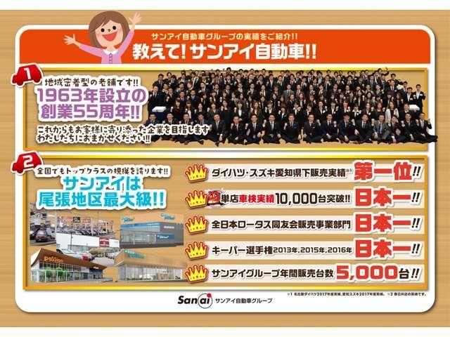 名古屋・春日井で地域最大級の届出済未使用車専門店です!お客様にピッタリな1台をご提案いたします。届出済未使用車専門店なので、豊富な各メーカー車を展示してお客様のご要望に適った1台をご提供いたします。