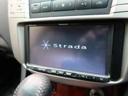 【ストラーダナビ】使いやすいナビで目的地までしっかり案内してくれます。CD/DVDの再生もでき、お車の運転がさらに楽しくなりますね!!