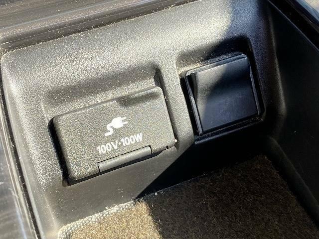 メーカーOPの【AC100V電源】を装備。携帯やノートパソコンの充電など家庭用電化製品を車の中で思う存分お楽しみいただけます。