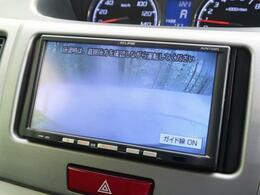 【バックカメラ】で駐車時に後方確認もできますので、大きな車の運転で不安な方も安心してお乗りいただけます♪