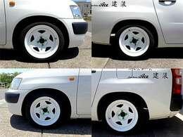 TC01深リム鉄チンホイール/新品タイヤ