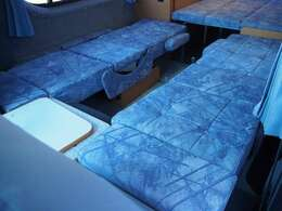 2列目を展開すると1人用ベッドになります!172cm×50cm×2基