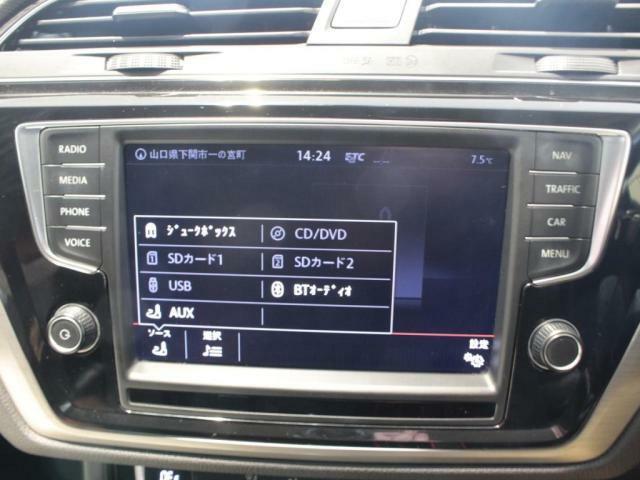 CD、DVD、SDカード、AUX、USB、フルセグTV対応。Bluetooth Audoなど、各種機能をお楽しみいただけます!