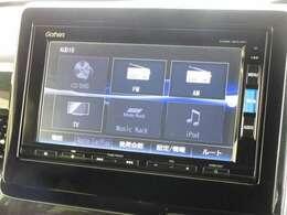 ナビゲーションはホンダ純正メモリーナビ(VXM-185VFi)が装着されております。AM、FM、CD、DVD再生、音楽録音再生、フルセグTV、Bluetoothがご使用いただけます。初めて訪れた場所でも道に迷わず安心ですね!