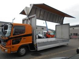 日野自動車 レンジャー 6.2mフルワイドベッド付アルミウイング フルハーフ製ウイング