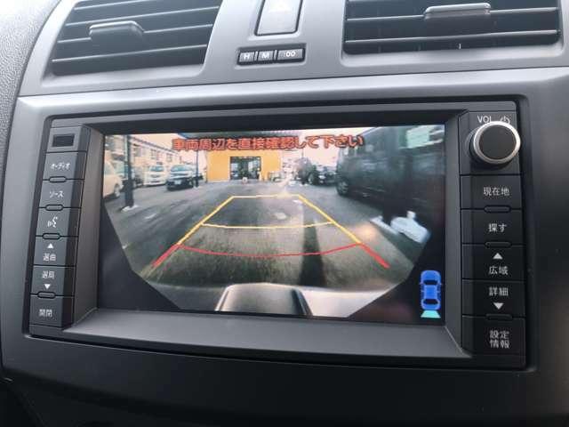 【バックカメラ】見通しの悪い所や狭い場所でも安心して駐車できます。