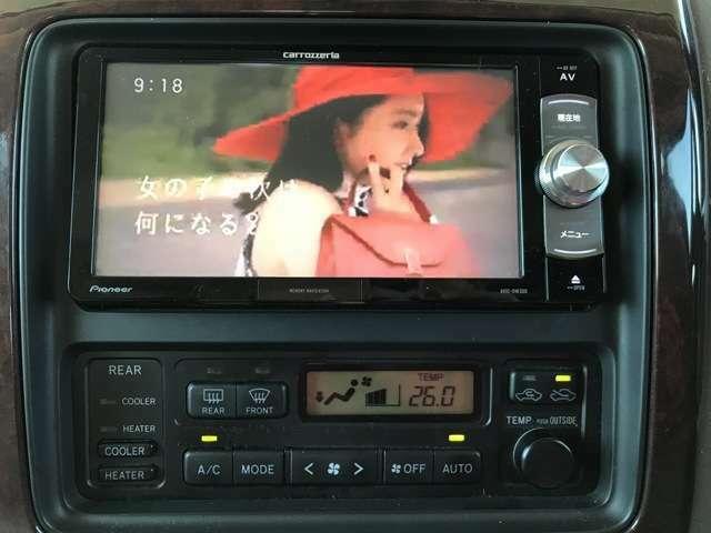 カロッツェリアメモリーナビ、ワンセグTVが装着されております!!