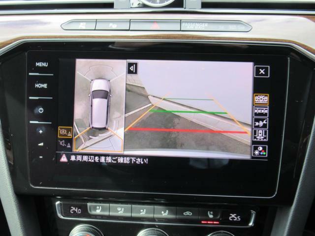 (アラウンドビューカメラ&前後センサー)障害物との距離を3段階の音で判別出来る上、360度の安全を視覚的に確認できます。死角を補い目で見る安心を。