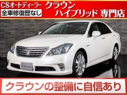トヨタ クラウンハイブリッド 3.5 Gパッケージ 後期型/黒本革/冷暖房シート/後席VIPシート