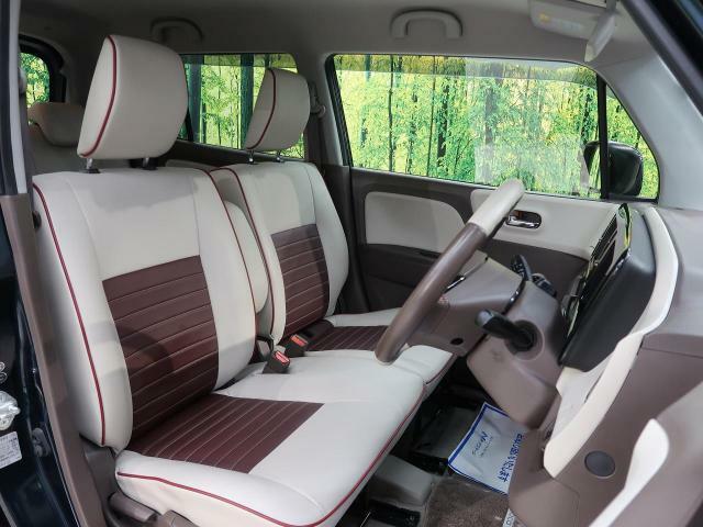 清潔感のあるベージュファブリックシート!軽自動車とは思えない座り心地を是非一度ご体感ください☆