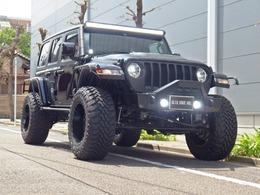 ジープ ラングラー JLアンリミテッド Black x Black 4inアップ 1オーナー 弊社製作カスタム車両